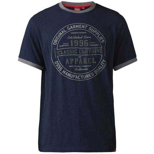 T-shirt z nadrukiem granatowy D555 Wilfred 7XL-8XL, kolor niebieski