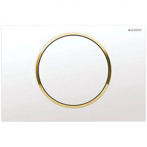 GEBERIT przycisk Sigma 10 biały/pozłacany/biały 115.758.KK.5, 115.758.KK.5