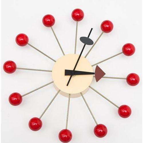 Zegar ball clock czerwony marki D2