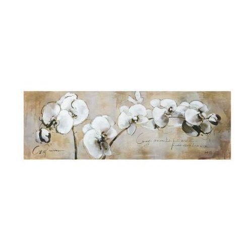 Obraz olejny orchid - 50 * 150 cm marki Vente-unique
