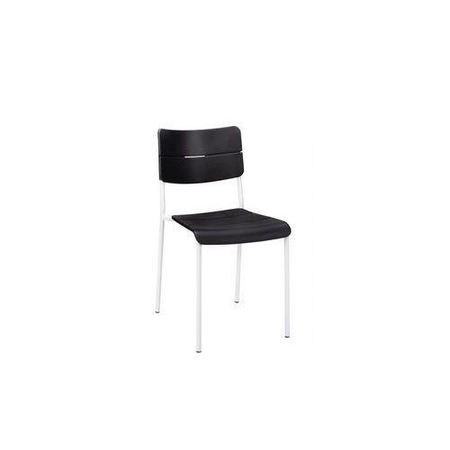 MODESTO krzesło RENE czarno-białe - polipropylen, metal, C1068.BLACK (11905213)