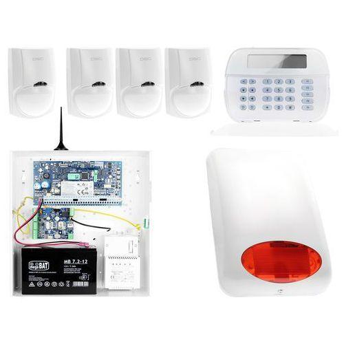 ZA12539 Zestaw alarmowy DSC 4x Czujnik ruchu Manipulator LCD Powiadomienie GSM