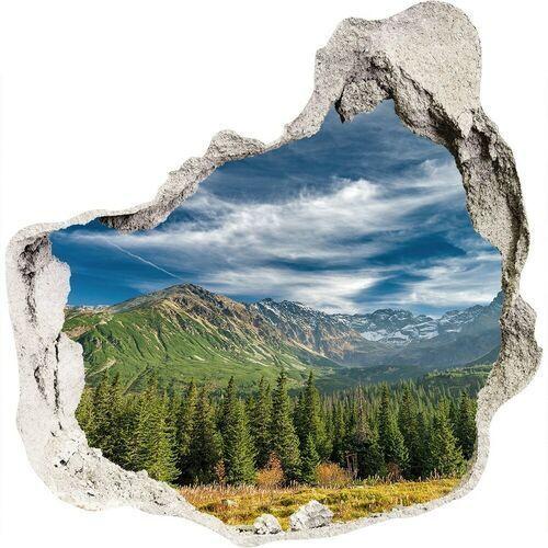 Dziura 3d w ścianie naklejka Jesień w Tatrach