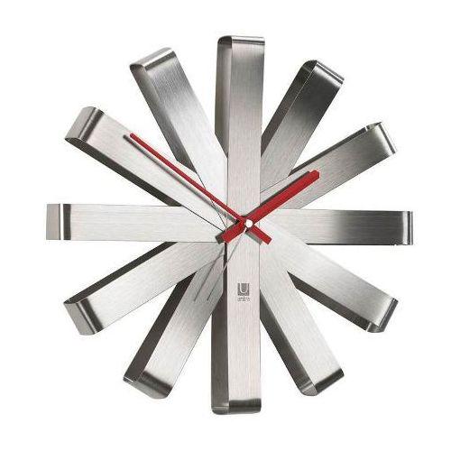 Zegar ścienny Umbra Ribbon steel 30 cm