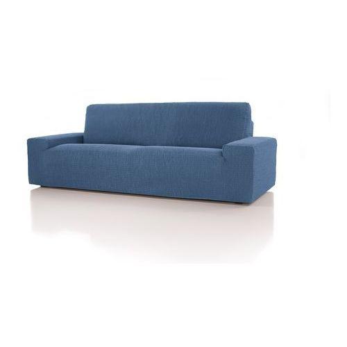 Forbyt, pokrowiec multielastyczny na kanapę cagliari, niebieski, 220 - 260 cm marki 4home