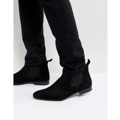 chelsea boots suede in black suede - black marki Silver street
