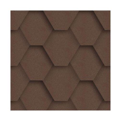 Izolmat Gont bitumiczny hexagonalny brązowy 3 m2 (5903874203568)