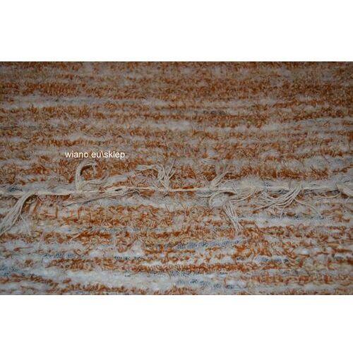Chodnik bawełniany ręcznie tkany jasny brąz-ecru 65x100 cm