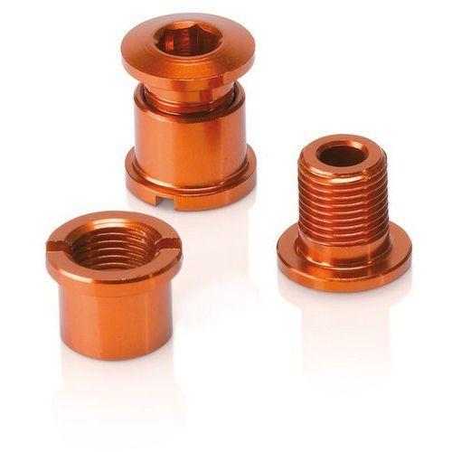 chainring bolts 16g, with thread, set of 5 orange 2018 akcesoria do napędu marki Xlc