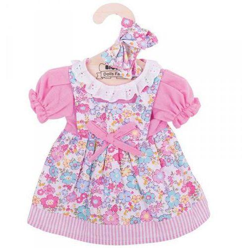 Sukienka dla lalki różowa w kwiatki marki Bigjigs