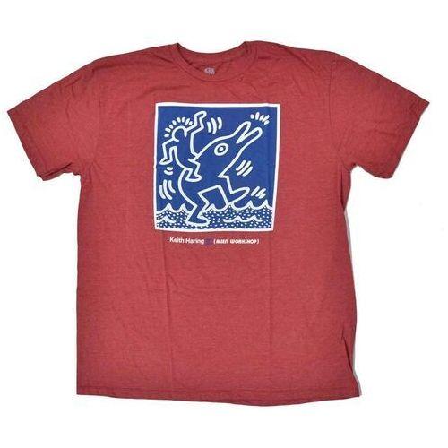 koszulka ALIEN WORKSHOP - Haring Dolphin Red Hthr (CERVENA) rozmiar: M, kolor czerwony