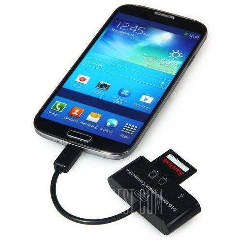3 in 1 Micro USB Interface Smart Card Reader HUB Support USB 2.0 TF SD MMC Card - produkt z kategorii- Karty pamięci