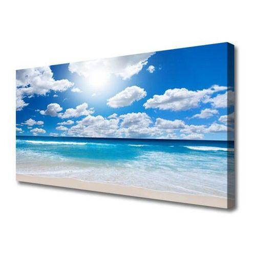 Tulup.pl Obraz na płótnie morze plaża chmury krajobraz
