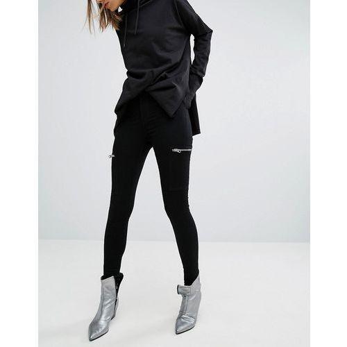 Cheap Monday High Spray Super Skinny Jeans with Zip Pockets - Black - produkt z kategorii- Pozostałe