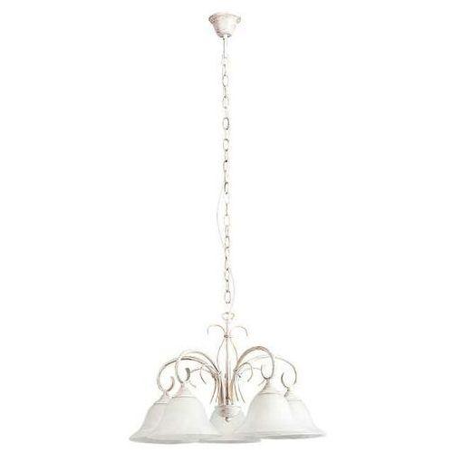 Rabalux Lampa wisząca katherine 5x60w e27 antyczny biały 7191