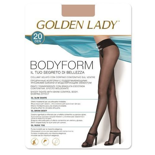Rajstopy Golden Lady Bodyform 20 den 4-L, beżowy/melon. Golden Lady, 2-S, 3-M, 4-L