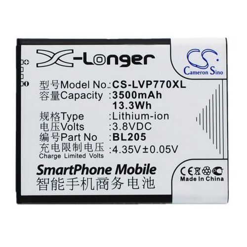 Lenovo P770 / BL205 3500mAh 13.3Wh Li-Ion 3.8V (Cameron Sino)