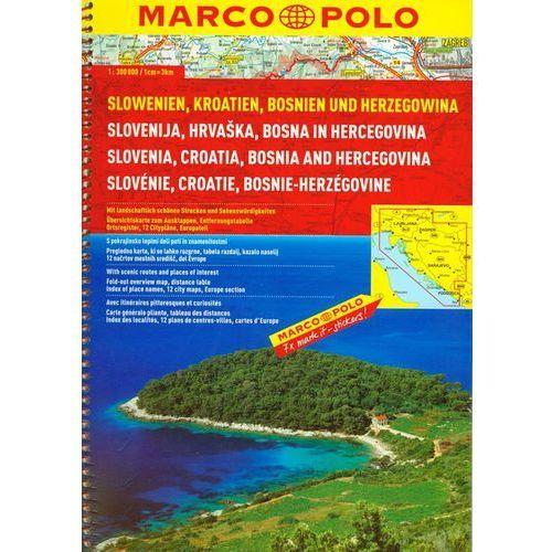 MP Słowenia, Chorwacja, Bośnia i Hercegowina atlas drogowy 1:300 000, oprawa broszurowa - OKAZJE