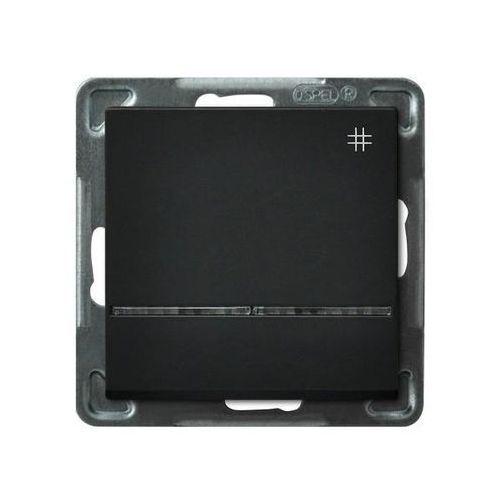 Łącznik krzyżowy z podświetleniem czarny ŁP-4RS/m/33 SONATA (5907577446185)
