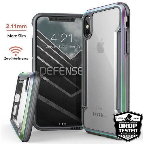 X-doria defense shield - etui aluminiowe iphone xs / x (drop test 3m) (iridescent)
