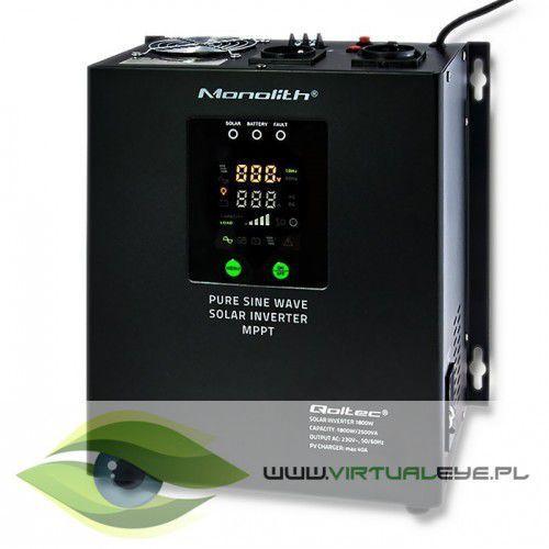 inwerter solarny   pure sine wave   1800w   40a marki Qoltec