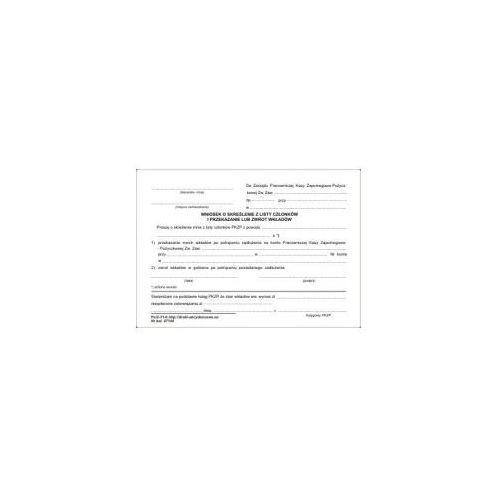 Wniosek o skreślenie z listy członków [pu/2-31-6] marki Firma krajewski