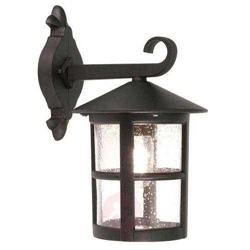 Zewnętrzna LAMPA ścienna HEREFORD BL21/G Elstead klasyczny KINKIET metalowa OPRAWA ogrodowa IP43 outdoor czarna (5024005466505)