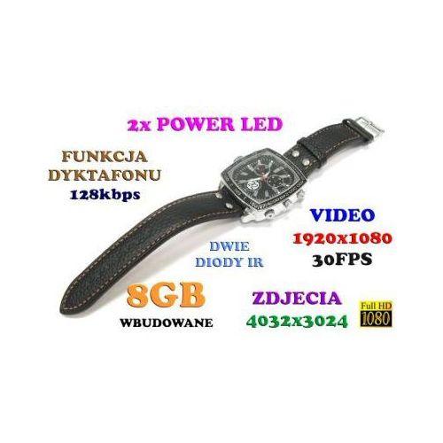 Spy Szpiegowski zegarek full hd na rękę (8gb), nagrywający obraz/dźwięk + dyktafon + 4x diody ir/led.