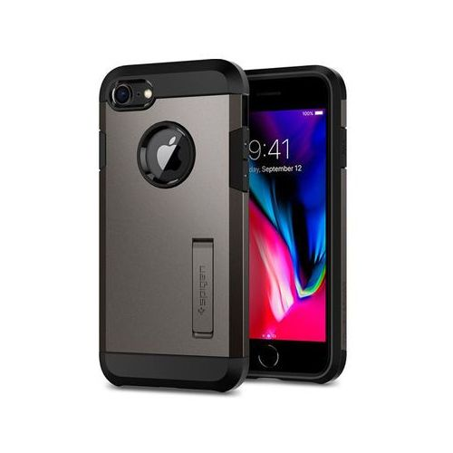 Spigen Etui tough armor 2 do apple iphone 8 7 gunmetal - szary (8809565301063)