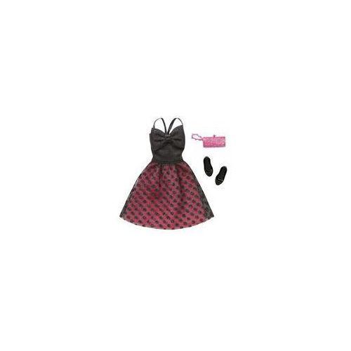 Barbie sukienka z dodatkami Mattel (czarno-różowa), CFX92 DNV25