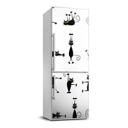 Naklejka samoprzylepna na lodówkę ścianę Koty