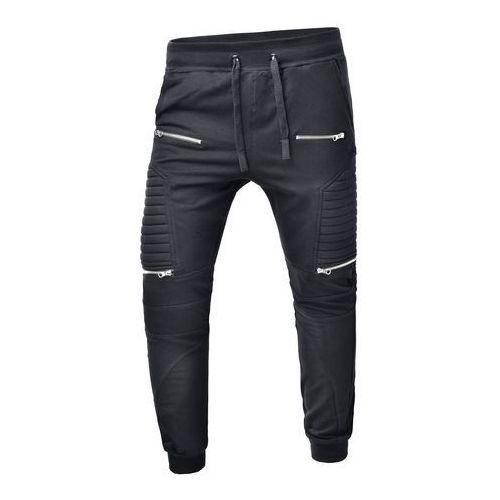 Spodnie męskie joggery dresowe atc1670 - czarne, SPODNIE ATC 1670 - CZARNY