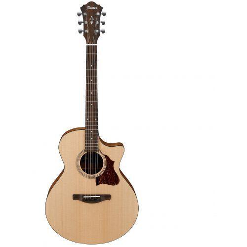 Ibanez AE1-LG gitara elektroakustyczna, w zestawie przedwzmacniacz AGP10 z mocowaniem Tama MCA53AC