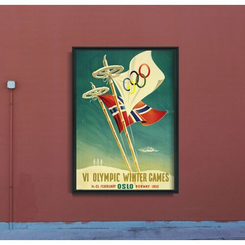 Plakat retro plakat retro vi zimowe igrzyska olimpijskie w oslo marki Vintageposteria.pl