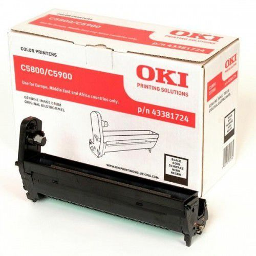 OKI C5800, C5900, C5550MFP drum black standard capacity 20.000 pages 1-pack, 43381724