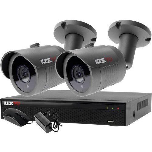 Keeyo Zestaw 4w1, 2x kamera fullhd/ir30, rejestrator 4ch lv-xvr44n-ii chmura