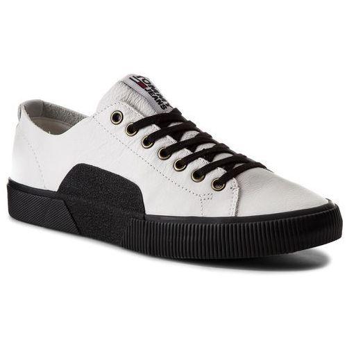 Sneakersy TOMMY JEANS - Tj Urban Leather Sneaker EM0EM00015 White 100, w 3 rozmiarach
