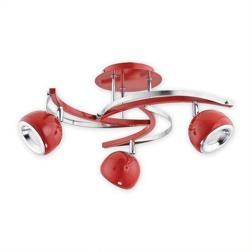 Devi LED lampa sufitowa (spot) 3-punktowa czerwona O2413 P3 CZE (5902082864325)