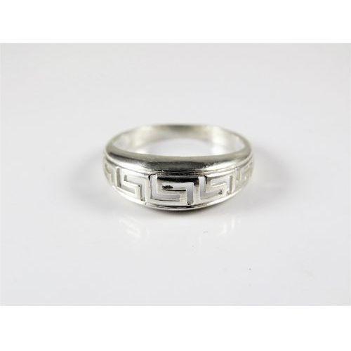 Srebrny pierścionek 925 EGIPSKIE WZORY r. 15
