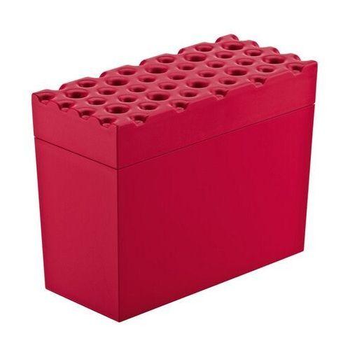 - pojemnik na pieczywo chrupkie brod - czerwony - czerwony marki Koziol
