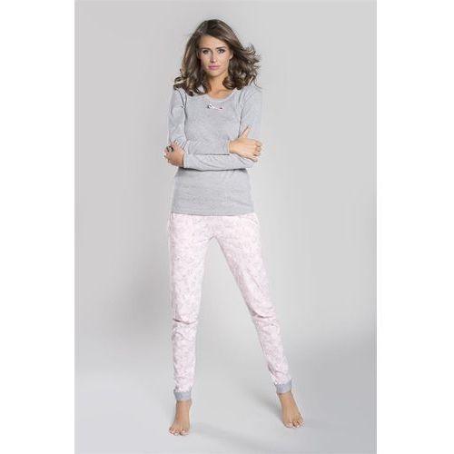 Italian fashion If piżama damska milana długi rękaw szary
