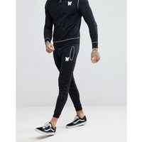 Good For Nothing Skinny Joggers In Space Dye - Black, kolor czarny
