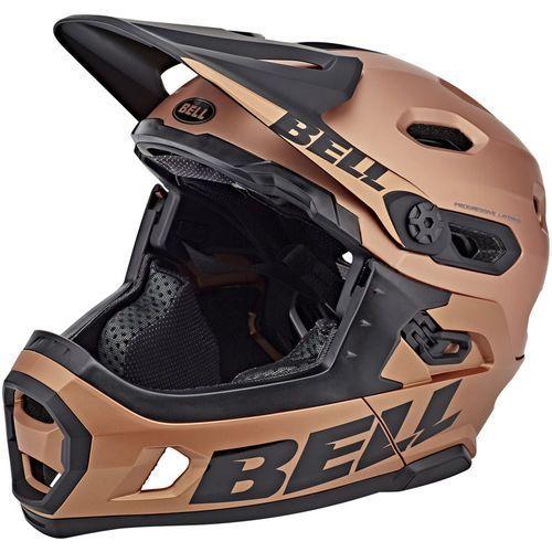 Bell super dh mips kask rowerowy beżowy/czarny m   55-59cm 2018 kaski fullface i downhill