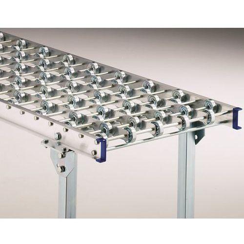Przenośnik rolkowy z ramą aluminiową, ocynkowane rolki stalowe, szer. taśmy 300