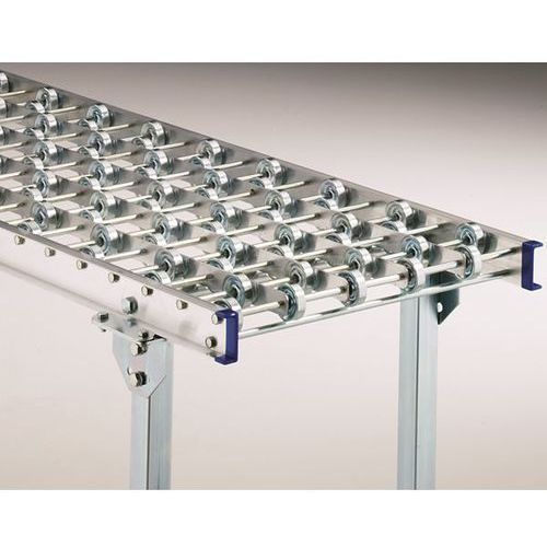 Łuk 90°, rama aluminiowa, roleczki stalowe, szer. taśmy 300 mm, odległość pomięd marki Gura fördertechnik