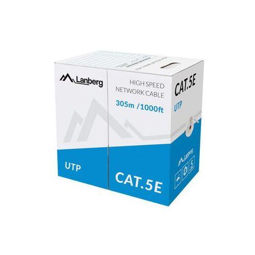 LANBERG Kabel UTP Kat.5e Drut CCA LCU5-13CC-0305-S (5901969429589)