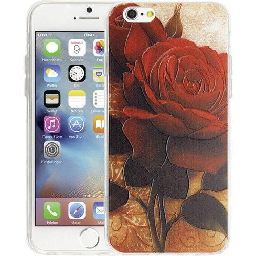 Perlecom Pokrowiec na tył iphone  4260481643417, pasuje do modelu telefonu: apple iphone 6, apple iphone 6s, różany (4260481643417)