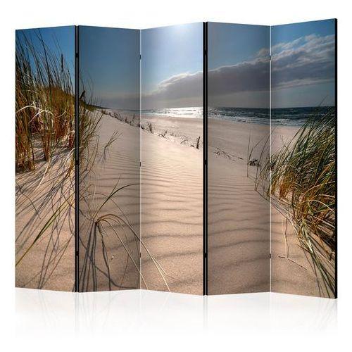 Parawan 5-częściowy - plaża w mrzeżynie ii [room dividers] marki Artgeist