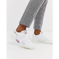 Reebok Workout Plus Mu trainers with vector branding in white - White, kolor biały