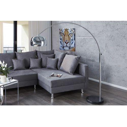 Interior Lampa podłogowa murano 170-205cm (srebrna) - srebrna ||srebrna 170-205cm